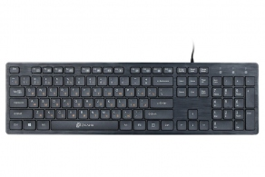 Клавиатура USB Oklick 520M2U Multimedia Keyboard черная, Slim, 2xUSB2.0