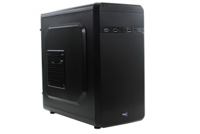 "Корпус microATX MiniTower AeroCool Qs-180 (черн., без БП, 5""1ext, 3""2int, 2""3int, 2USB, USB3.0, 2audio, Fan 80mm)"