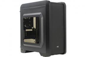 "Корпус microATX MiniTower AeroCool Qs-240 (черн., без БП, 3""2int, 2""3int, 2USB2.0, USB3.0, 2audio, Fan 120mm)"