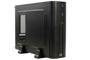 "Корпус microATX MiniTower AeroCool CS-101 (черн., 400W, 5""1ext, 3""2int, 2""2int, 2USB3.0, audio, Fan 80mm) CS-101-VX-400W"