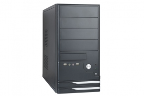 "Корпус microATX MiniTower ExeGate BAA-101U (черн., 350W, 5""2ext, 3""1ext+5int, USB2.0, USB3.0, 2audio) EX275917RUS"
