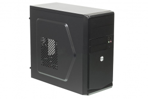 "Корпус microATX MiniTower Accord ACC-B021 (черн., без БП, 5""2ext, 3""2ext+1int, 2""1int, 2USB2.0, Audio, Mic)"