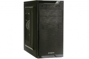 "Корпус microATX MiniTower ExeGate QA-412U (черн., без БП, 5""2ext, 3""1ext+2int, 2USB,  2USB3.0, 2audio) EX272749RUS"