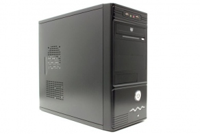 "Корпус microATX MiniTower ExeGate MA-368 (черн., без БП, 5""2ext, 3""1ext+5int, 2USB, 2audio) EX189006RUS"