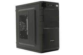 "Корпус microATX MiniTower ExeGate QA-416 (черн., 400W, 5""1ext+2int, 3""1ext+2int, 2USB2.0, 2audio) EX280815RUS"